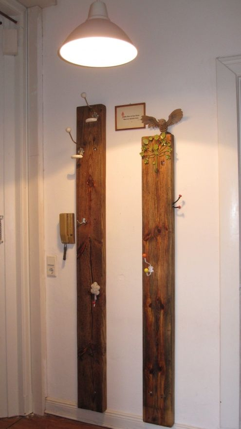 Neue garderobe saunas upcycling and room for Garderobe holz