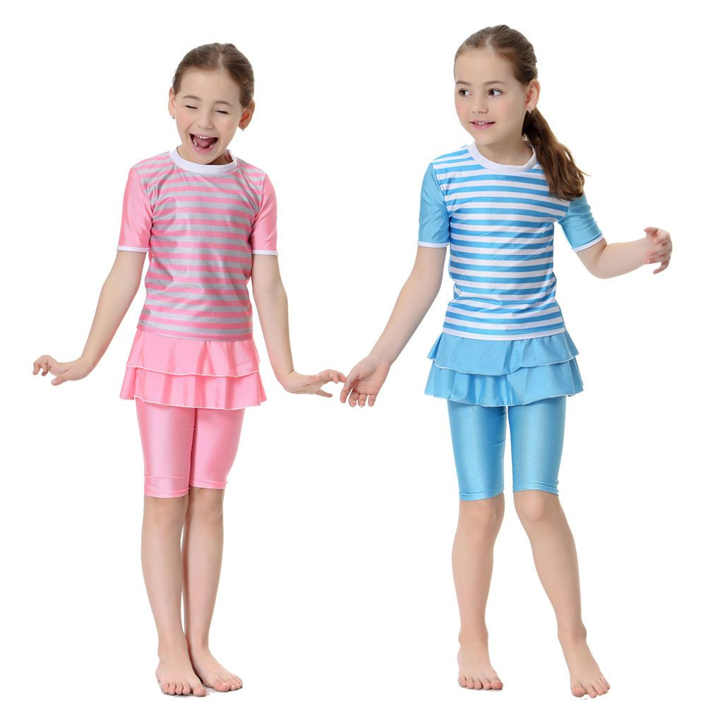 34a6efa5e2eb0 Muslim Swimwear Kids Girls Modest Swimsuit Tops+Pants Beachwear Child  Swimming #Unbranded #Swimsuit
