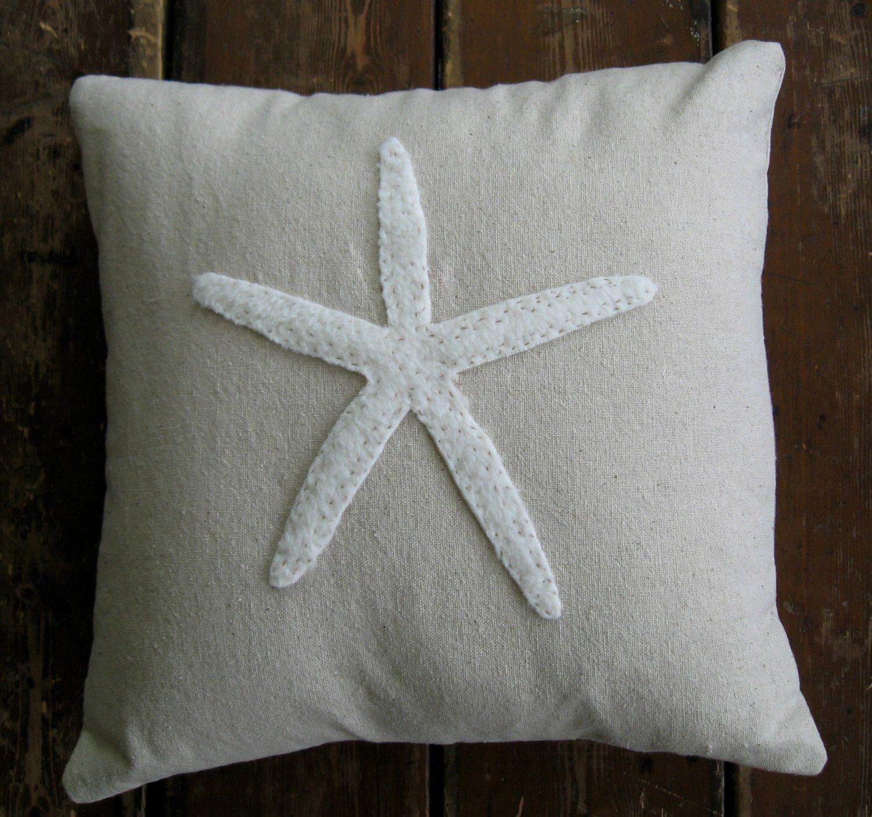 starfish pillow cover. $40.00, via Etsy.