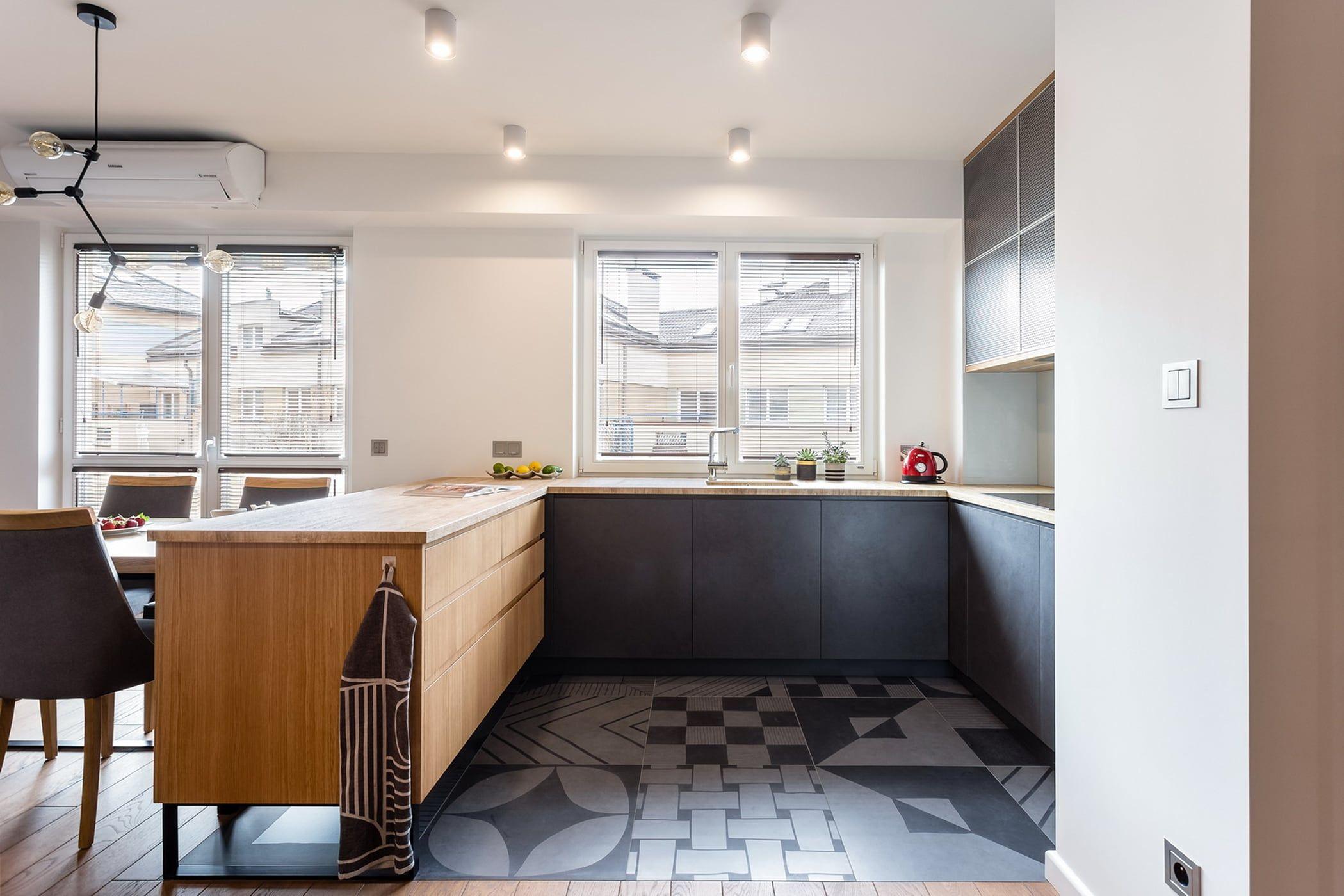 Apartament Soft Loft Zawicka Id Projektowanie Wnetrz Nowoczesna Kuchnia Szary Homify Kitchen Home Home Decor