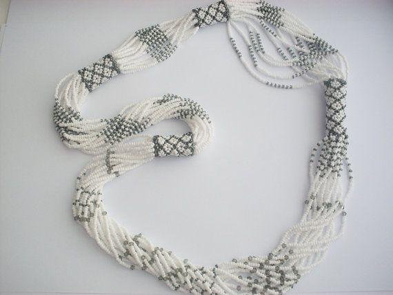 Emek Pinari - Necklace - Beaded Swarovski- Beads Necklace- Necklace Seed Bead-Valentine's Day Gift on Etsy, $80.00