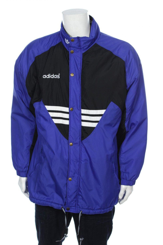 Adidas jacket vintage trefoil logo spellout 3BONa