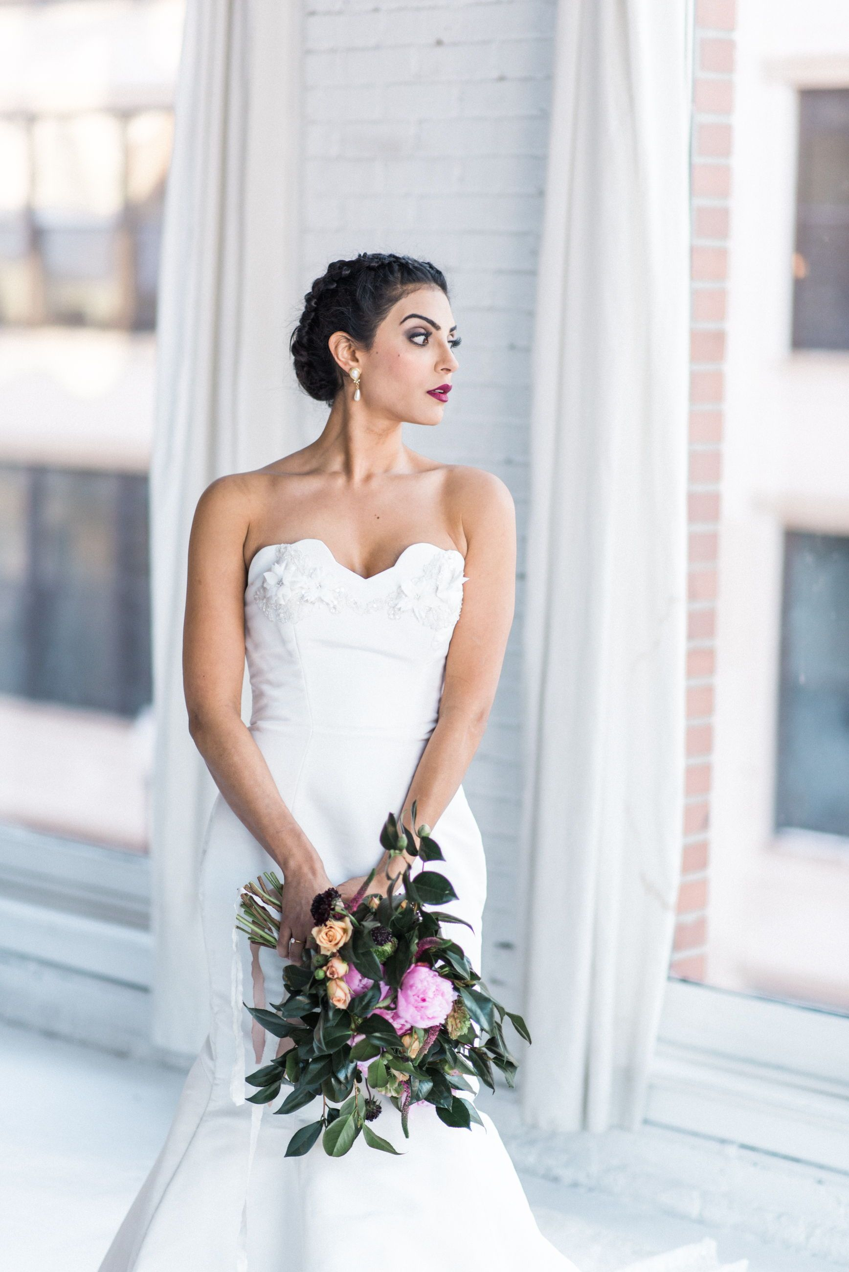 sophisticated and glamorous bridal hair and makeup by