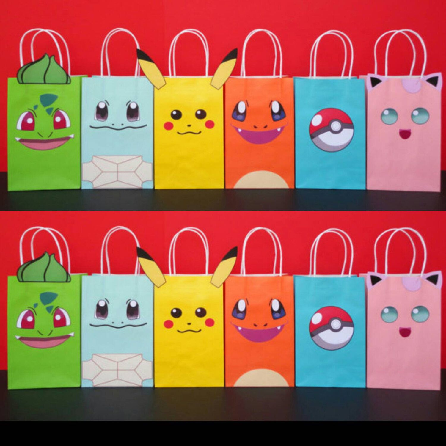 Instant Pokemon Favor Bags Bag Go Birthday Party Favors Goo