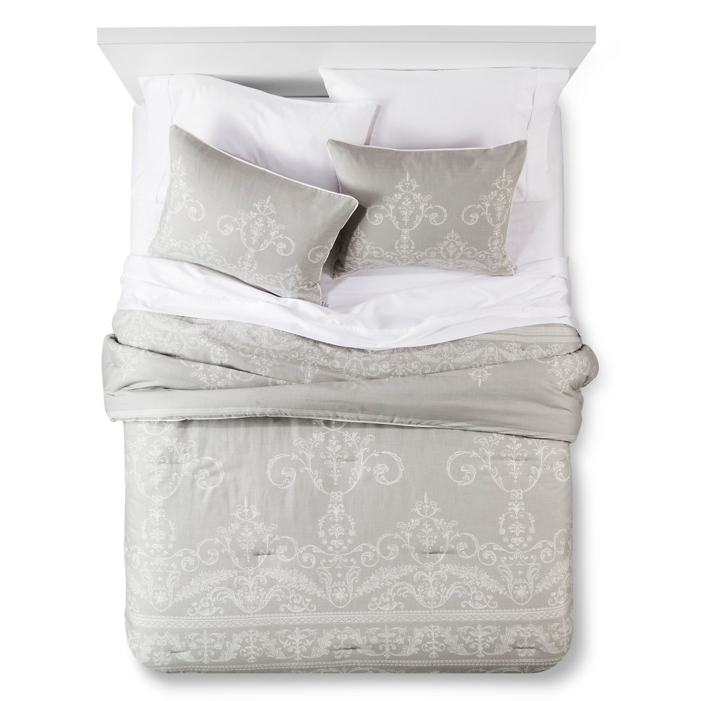 Sillas vintage el rinc 243 n di ree - Vintage Gate Comforter And Sham Set Queen Grey 3pc The Industrial Shop