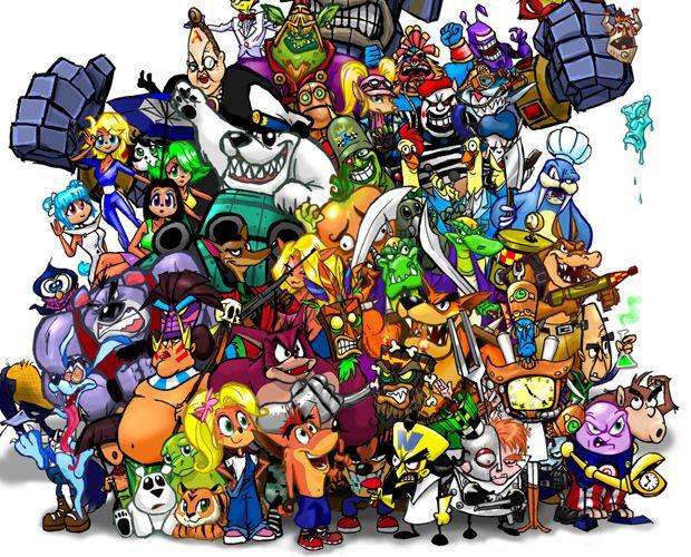Crash Bandicoot Characters Arte De Videojuegos Fondos De Pantalla De Juegos Creatividad