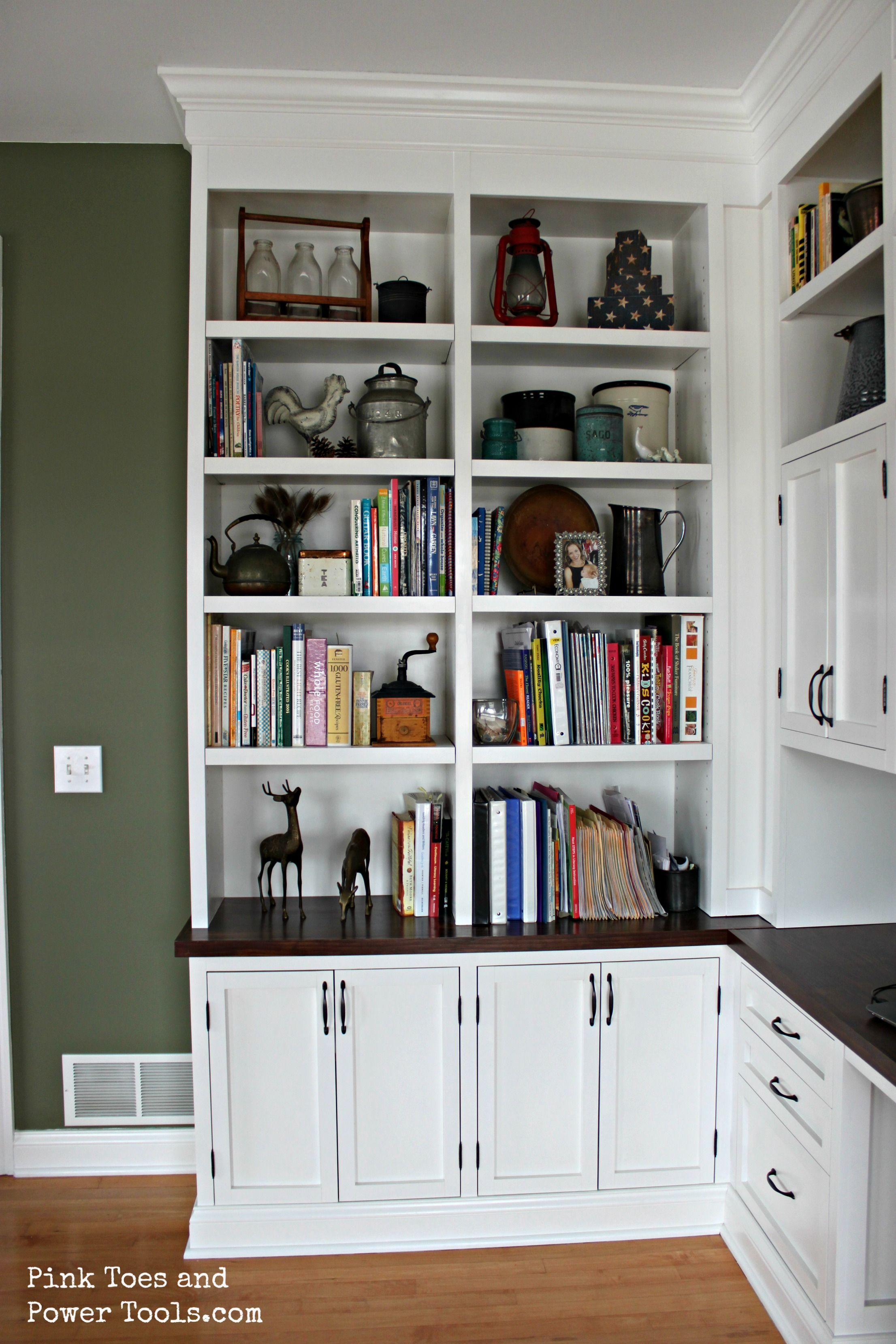 Dining Room/Home Office {Styled Bookshelves | Guest room office ...