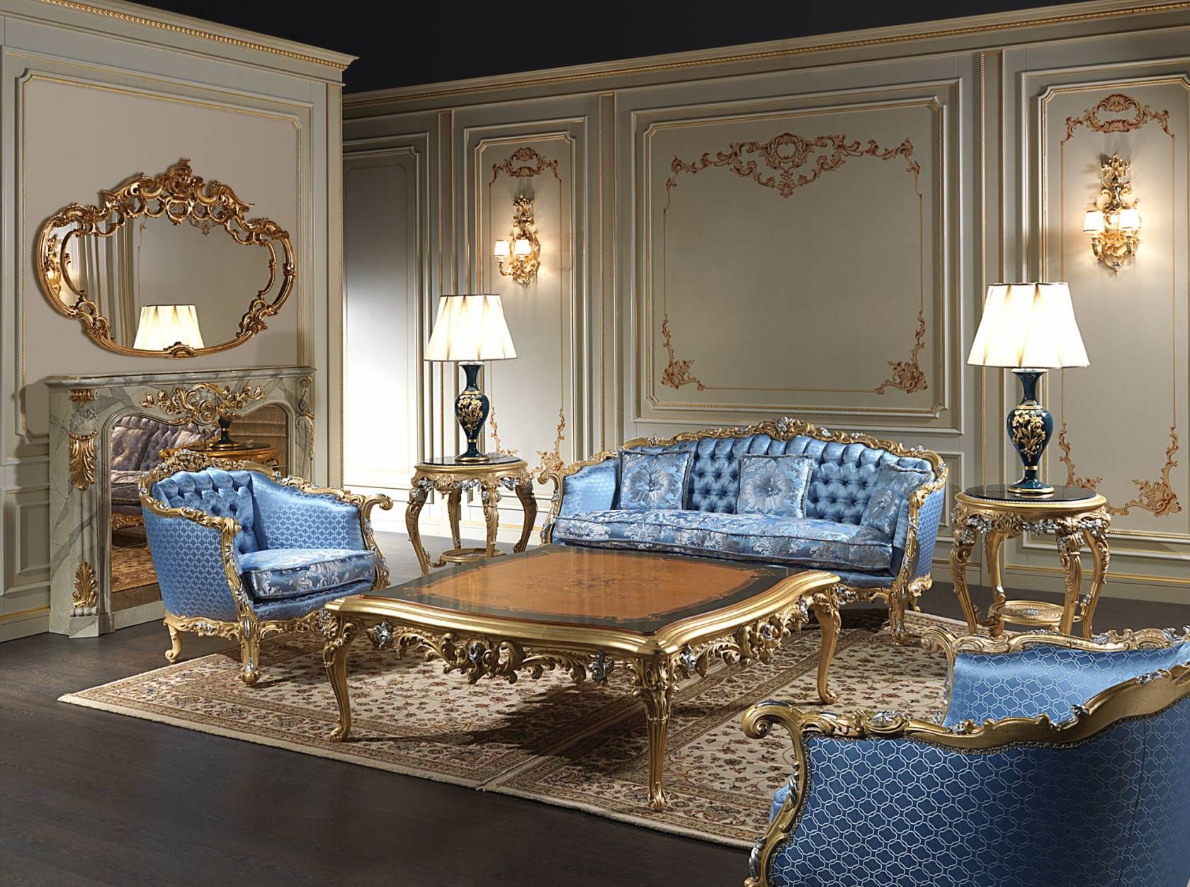 Italian Furniture Living Room Living Room Made In Italy Eighteenth Century Made And Carved By