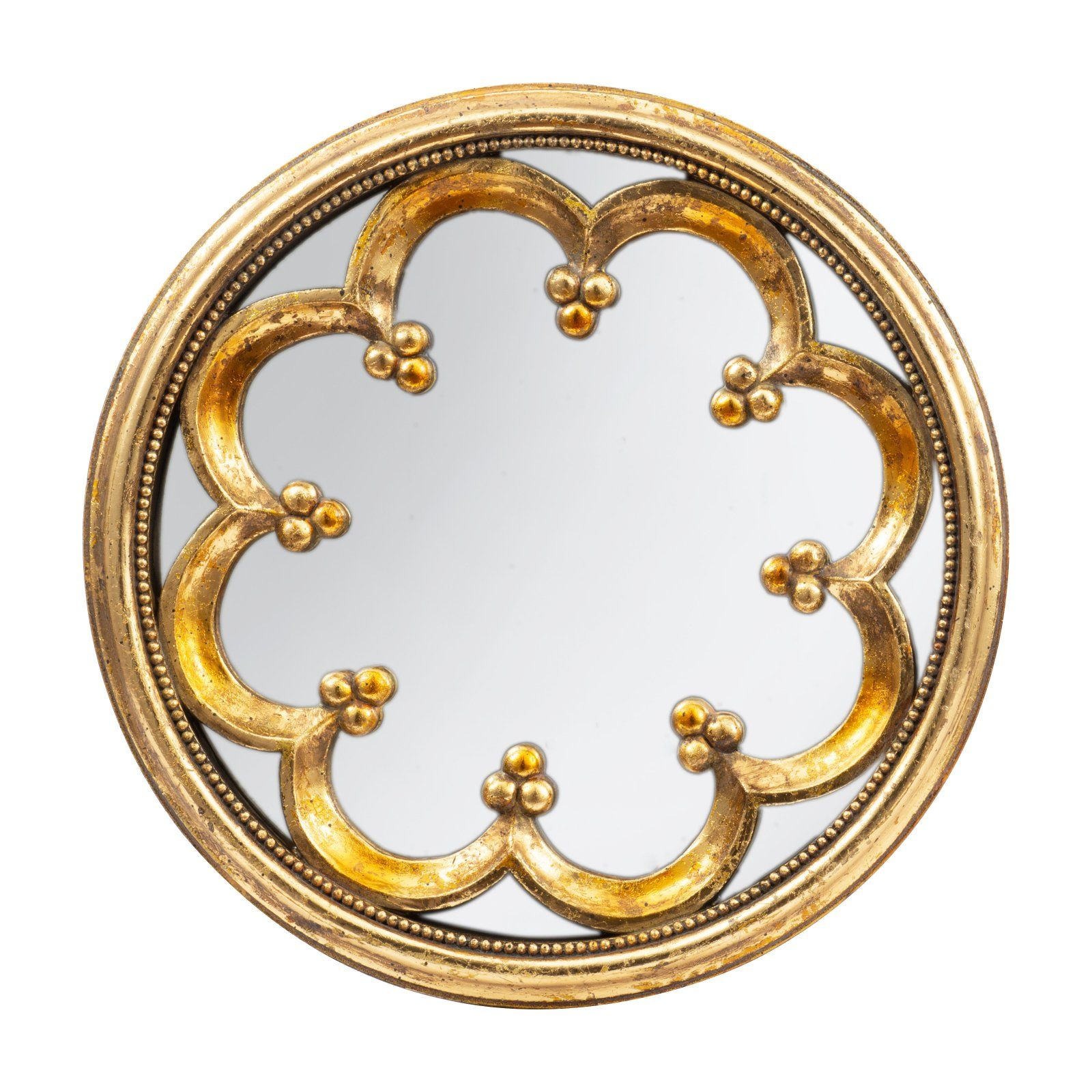 A And B Home Antique Gold Round Wall Mirror Round Wall Mirror