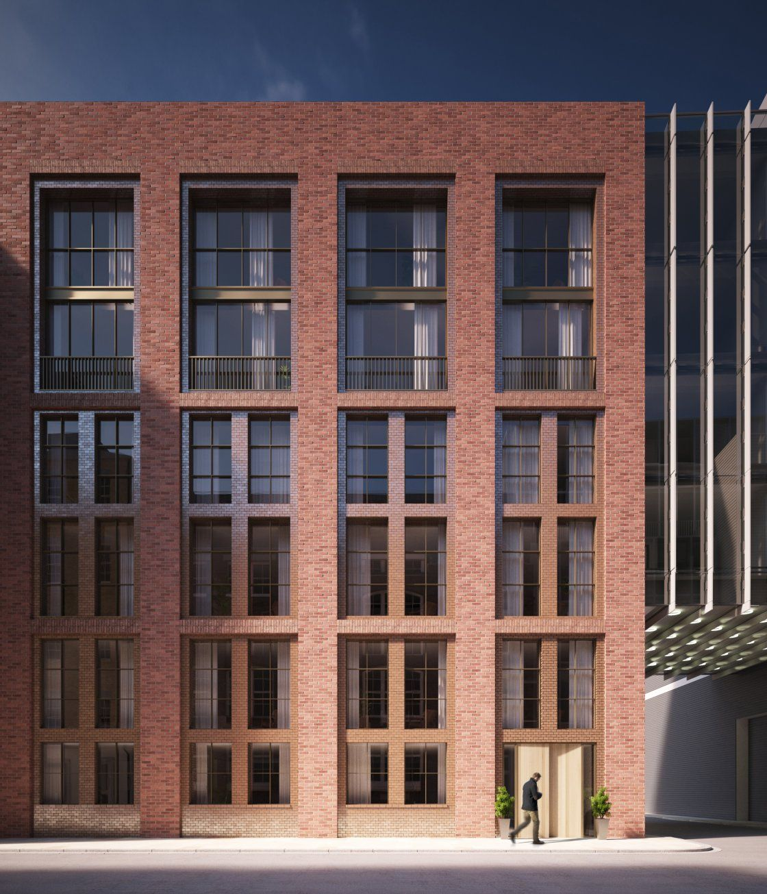 Cheap Apartments Outside Bricks: Sheppard Robson - Barts Square, EC1