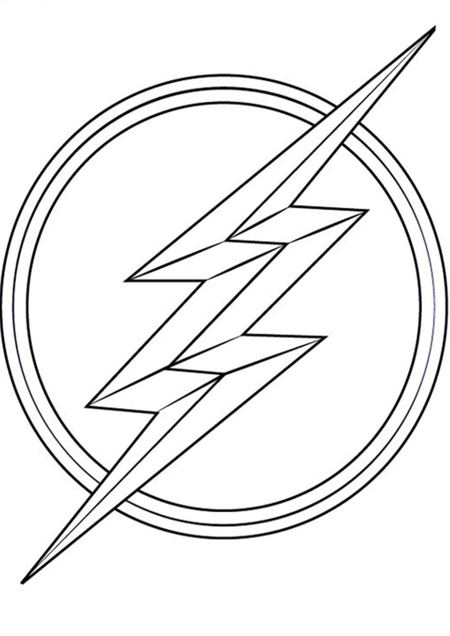 Free Easy To Print Flash Coloring Pages Flash Logo Flash Drawing The Flash