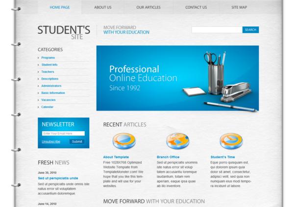 Student html5 template, free wordpress template, html free templates ...