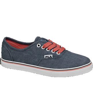 Blue Fila men's lace up canvas shoes | Deichmann