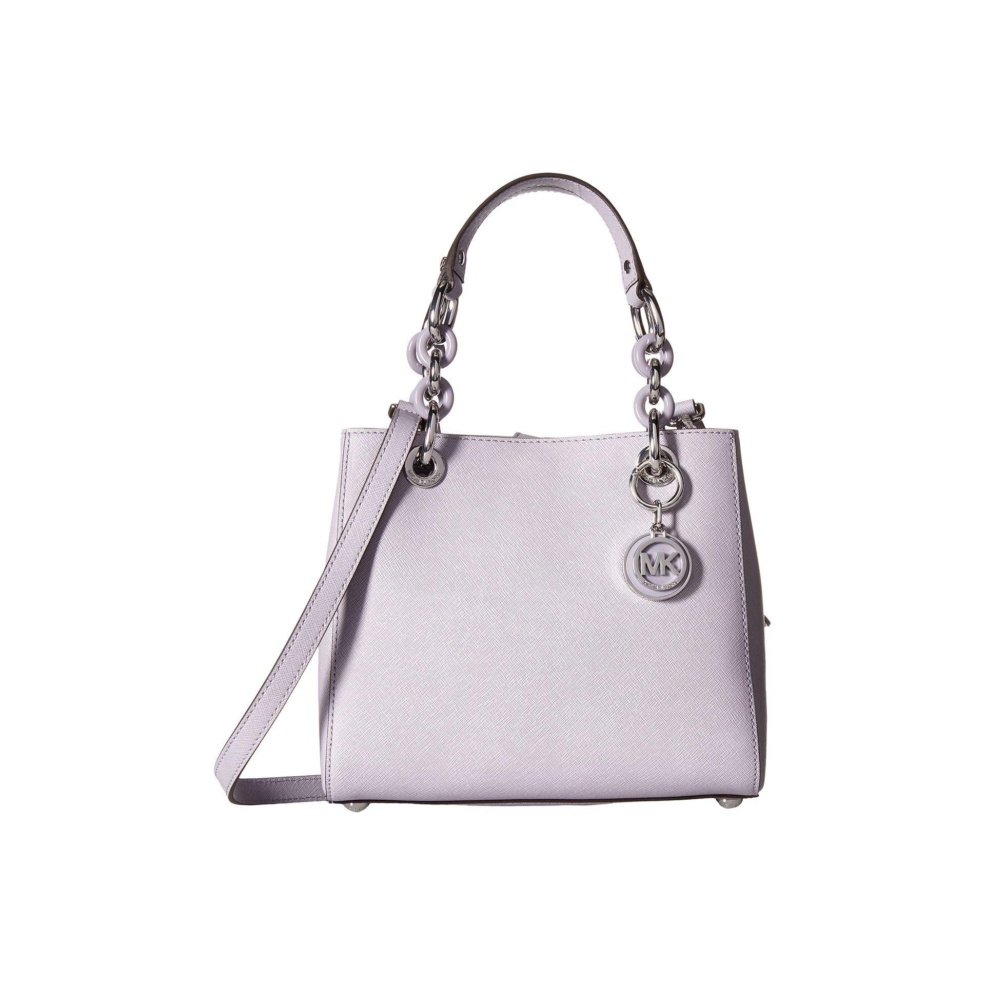 00c19a02e9da ... best price michael kors cynthia lilac small north south satchel handbag  b8863 e472e