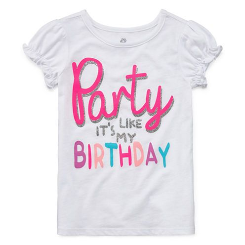 Free Shipping Available Buy Okie Dokie Girls Birthday T Shirt Toddler Girls At Jcpenney Com Today And Enjoy Great Savings Shirts Okie Toddler Girl