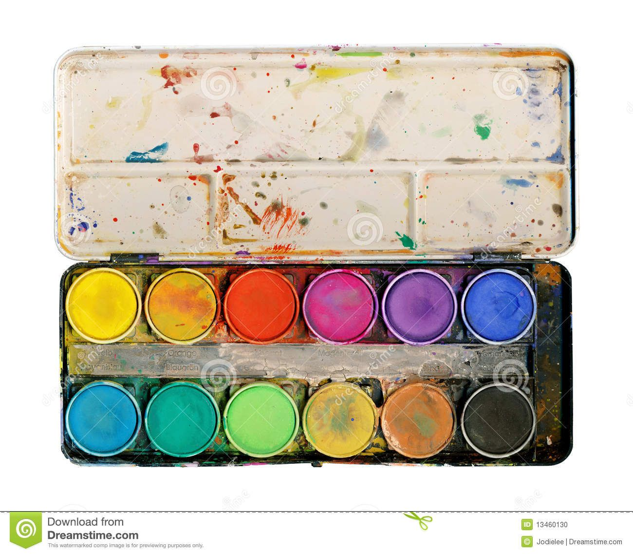 Paint Palette Isolated On White Background Stock Photo Image Of