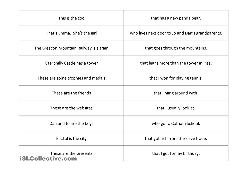 relative pronoun split sentence | Relative clauses