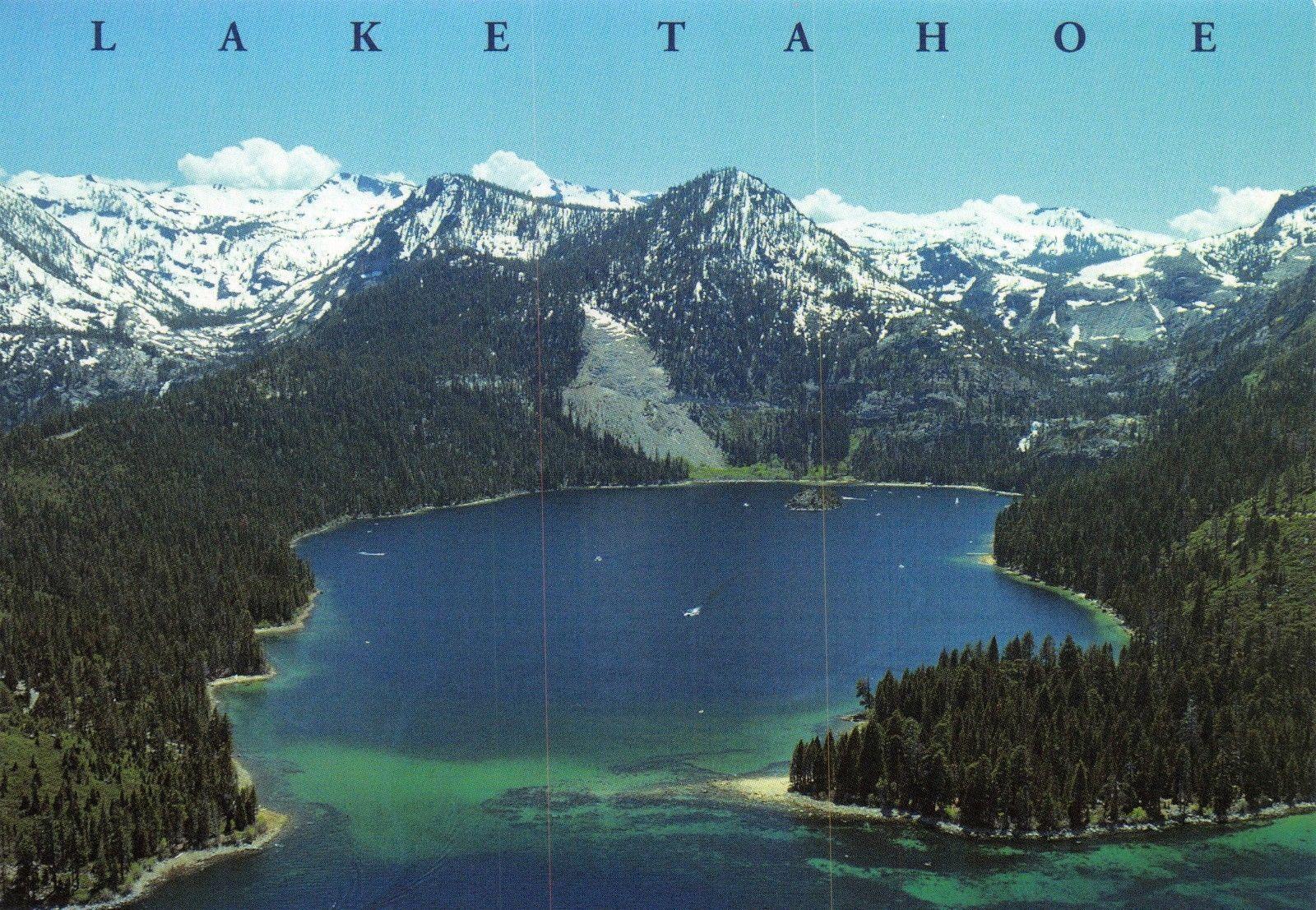 Postcard Emerald Bay Lake Tahoe Nevada California Usa J58