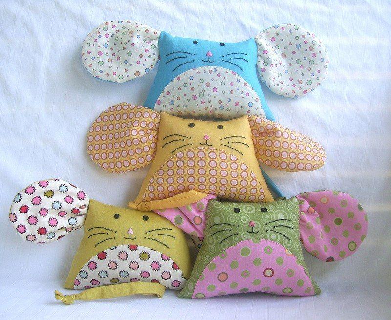 mouse face pillow nursery decor white polar fleece with grey dotty ears white mouse cuddly cushion gender neutral nursery - Pillow Design Ideas