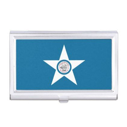 Flag Of City Of Houston Texas Case For Business Cards Office Gifts Giftideas Business White Business Card Office Gifts Houston Texas