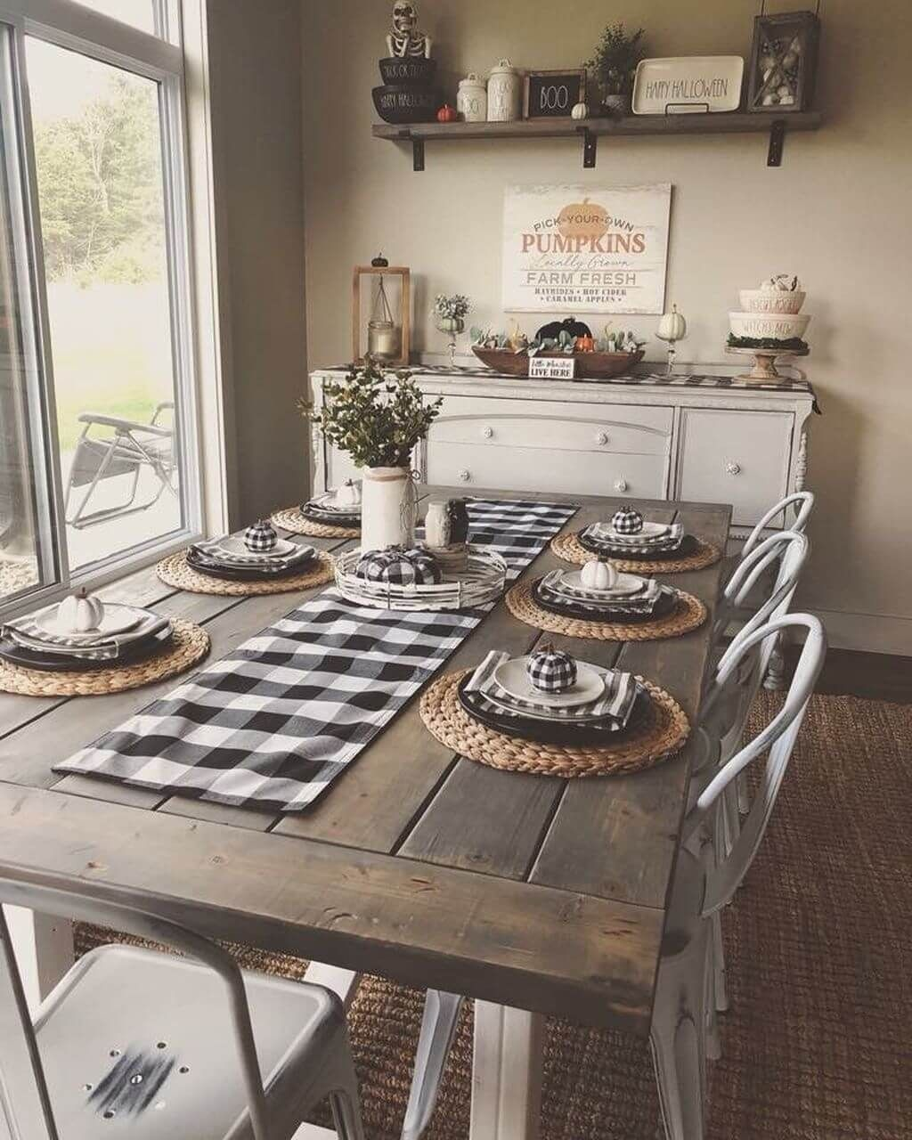 34 Affordable Fall Farmhouse Dining Room Decor Ideas Once You