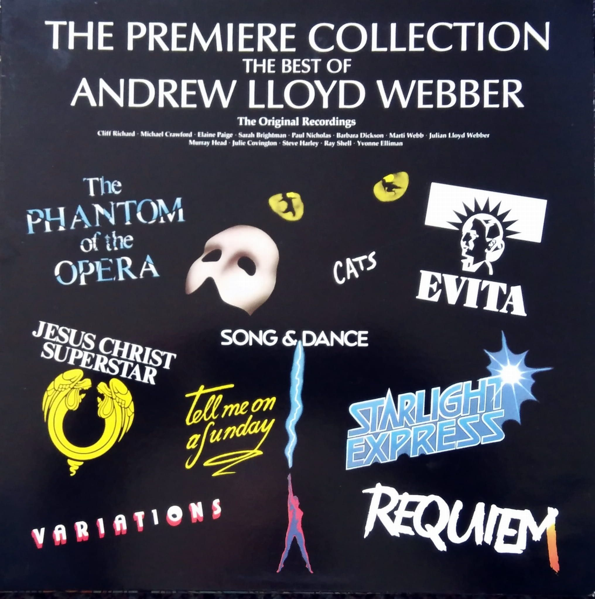 Andrew Lloyd Webber The Premiere Collection The Best Of Andrew Lloyd Webber Really Useful Records Alwtv 1 In 2020 Lloyd Andrew Music Of The Night