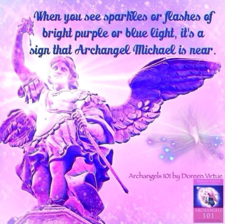 All the time blue flashes Archangel Michael | Guardian Angels