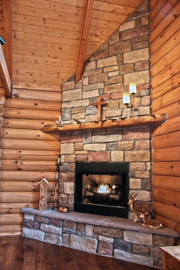 Photos of this log home nestled in the countryside of Kentucky  Cabin Fever  Propane fireplace