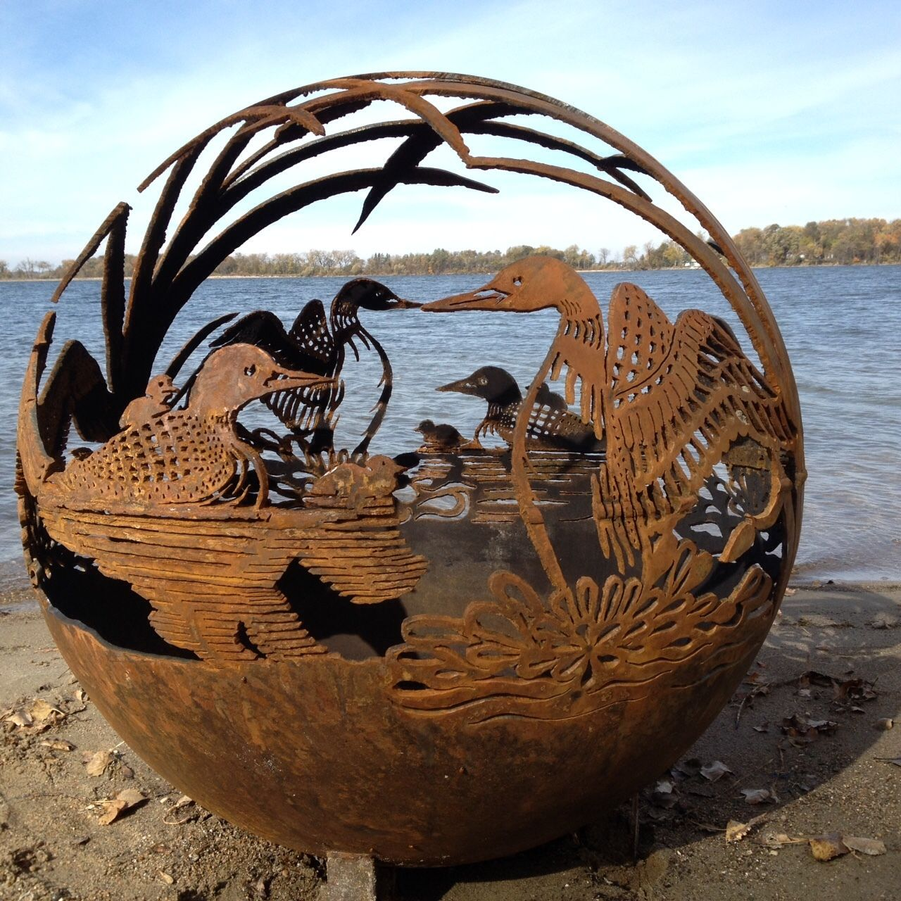 Fireball Fire Pits LOON   Unique Handcrafted Wood Burning Steel Fire Pits.  Creative Handmade Artistic Idea