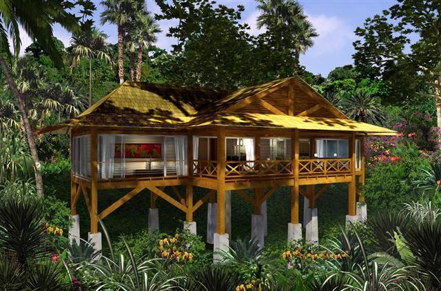 Houses On Stilts House On Stilts Jungle House Stilt House Plans