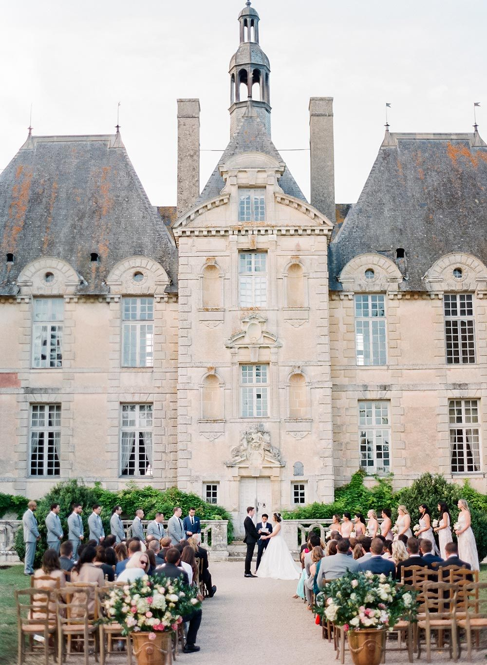 Elegant Organic Destination Wedding At A French Chateau Ruffled French Chateau Weddings Chateau Wedding France Wedding