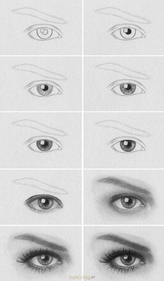 Olho Passo A Passo Tutoriais De Desenho De Olhos Arte