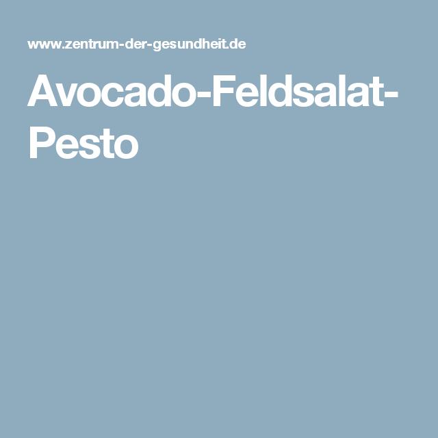 Avocado-Feldsalat-Pesto