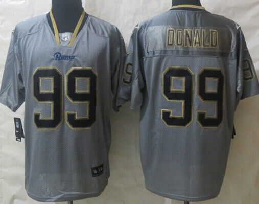 ee0238e75 ... Nike St. Louis Rams 99 Aaron Donald Lights Out Gray Elite Jersey ...