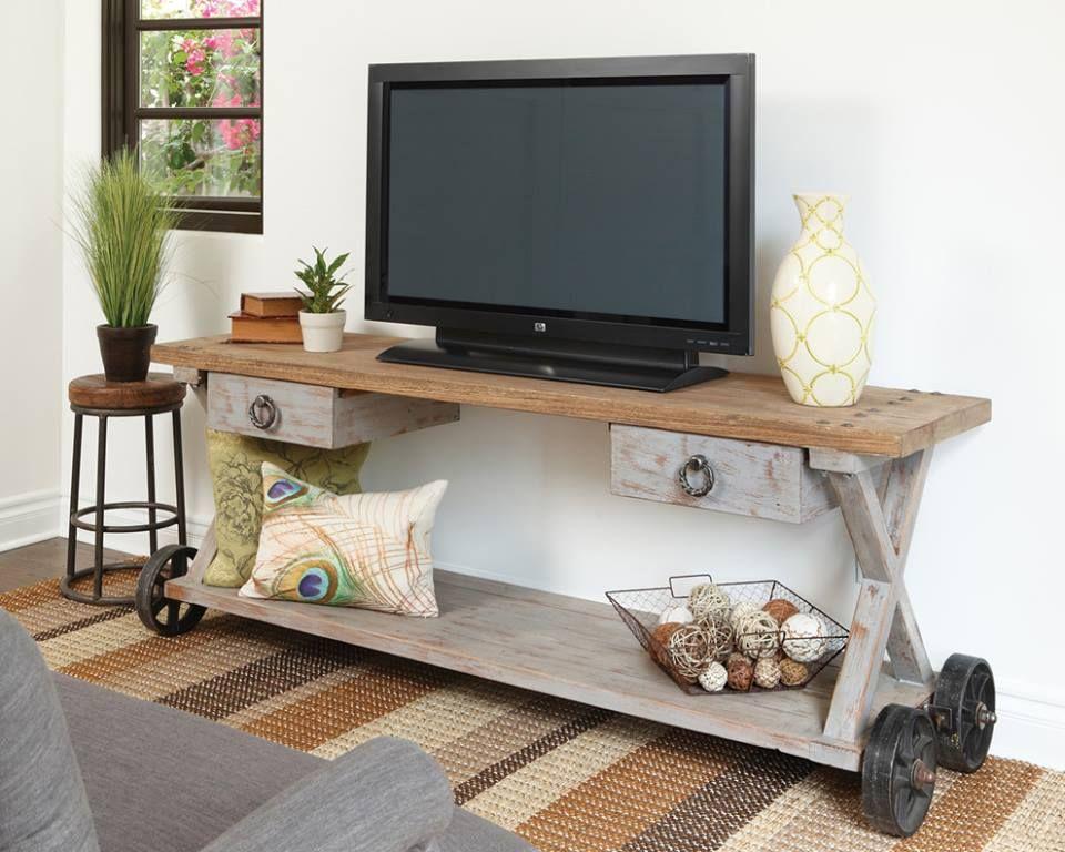 Carro de Mola: Faça uma decoração diferente na sua sala de estar. Olha só que legal essa ideia de rack.