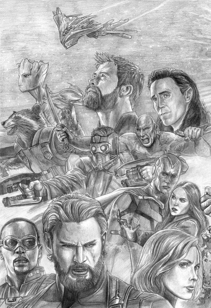 Avengers (Infinity War) Assembled (Left Side) By SoulStryder210 | Ta | Pinterest | Infinity War ...