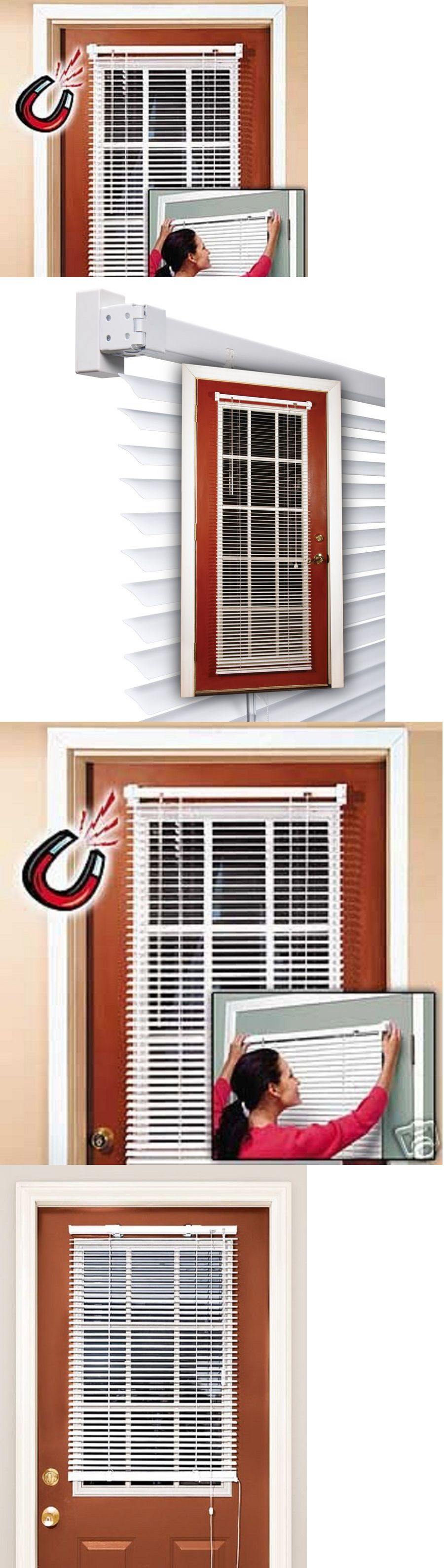 Easy Install Magnetic Window Blinds White Snaps On Off No Tools Choose Size Blinds For Windows Easy Install Blinds