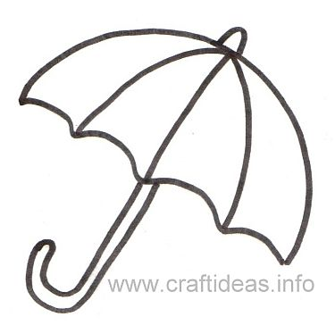 Free Craft Patterns And Templates Umbrella Template Free Printable Crafts Umbrella Template Printable Crafts