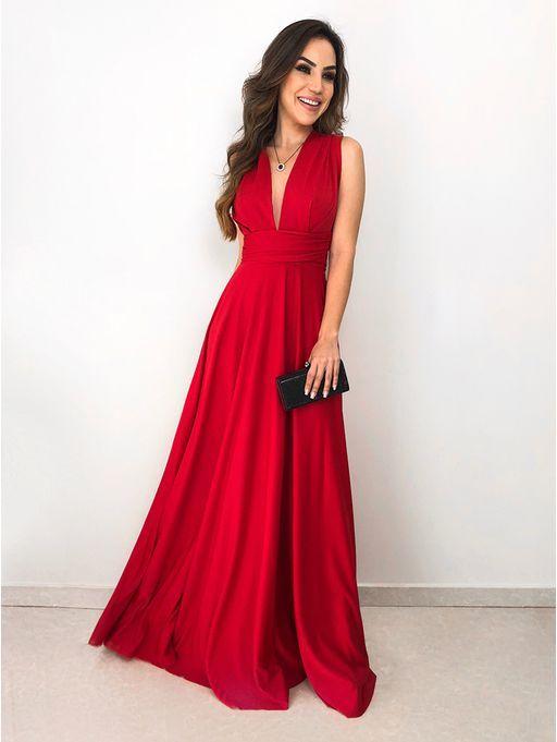 a65fa030f Vestido Longo Maluma Vermelho | vestidos elegantes. in 2019 ...