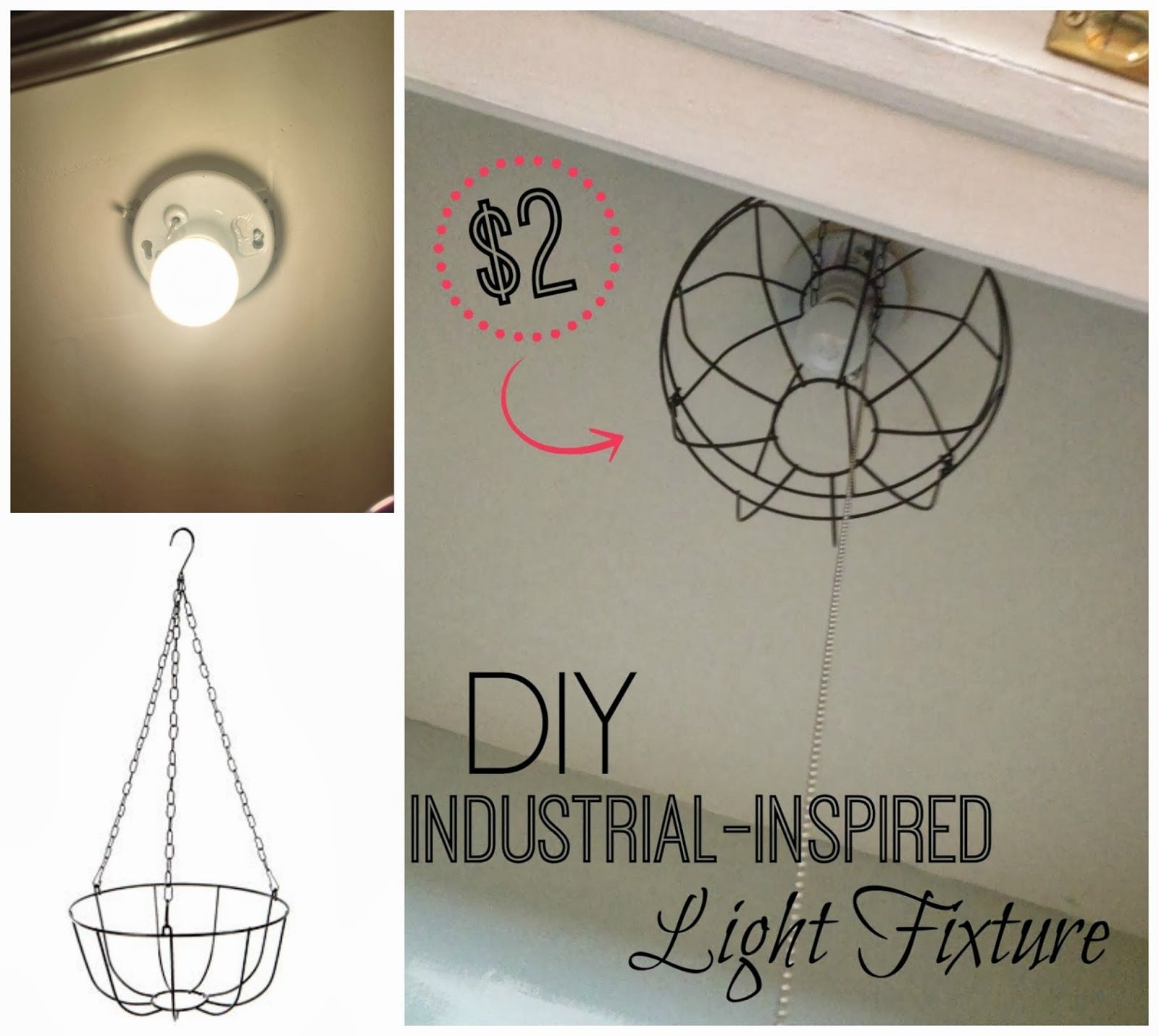 DIY Dollar Store Industrial Light Fixture you never know where