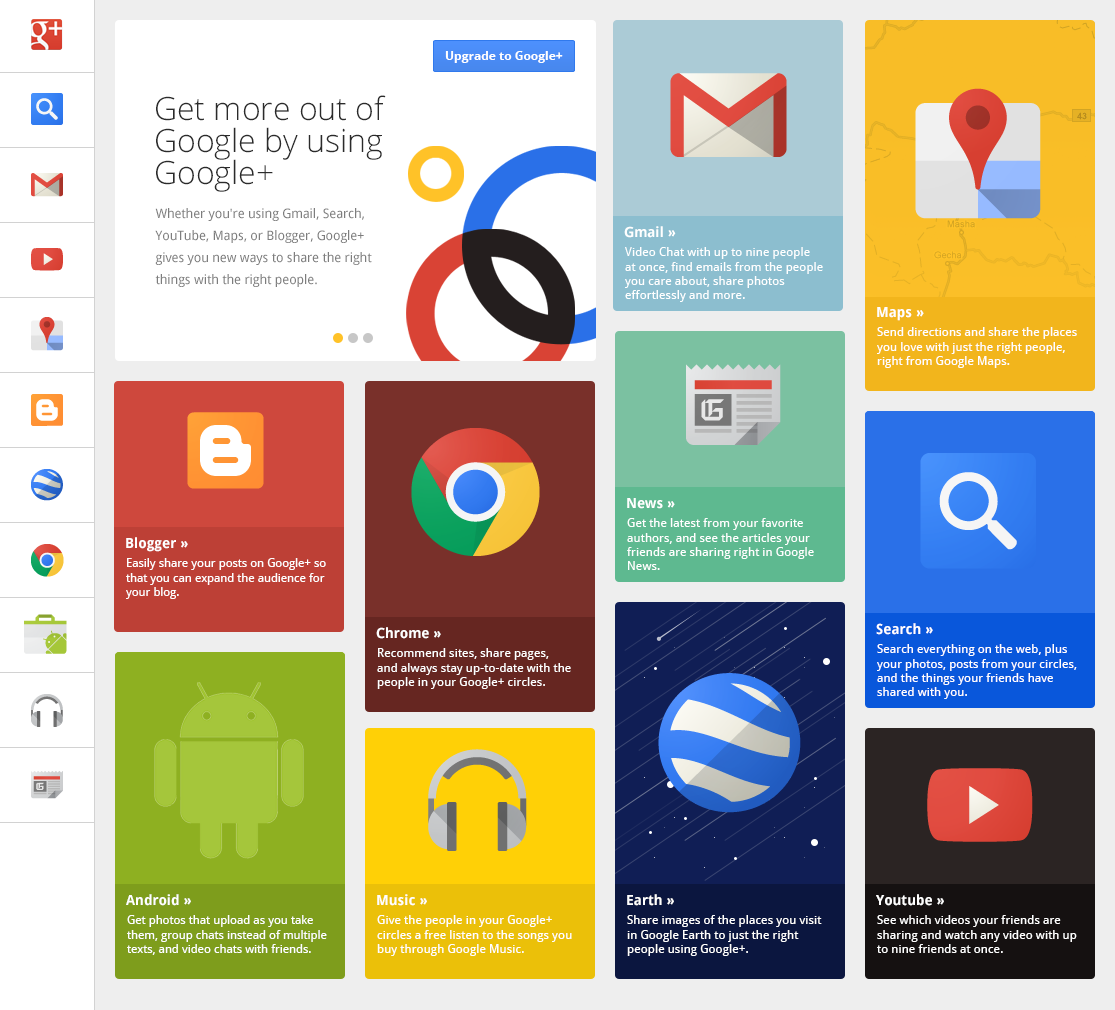 Google+ Grid by UENO