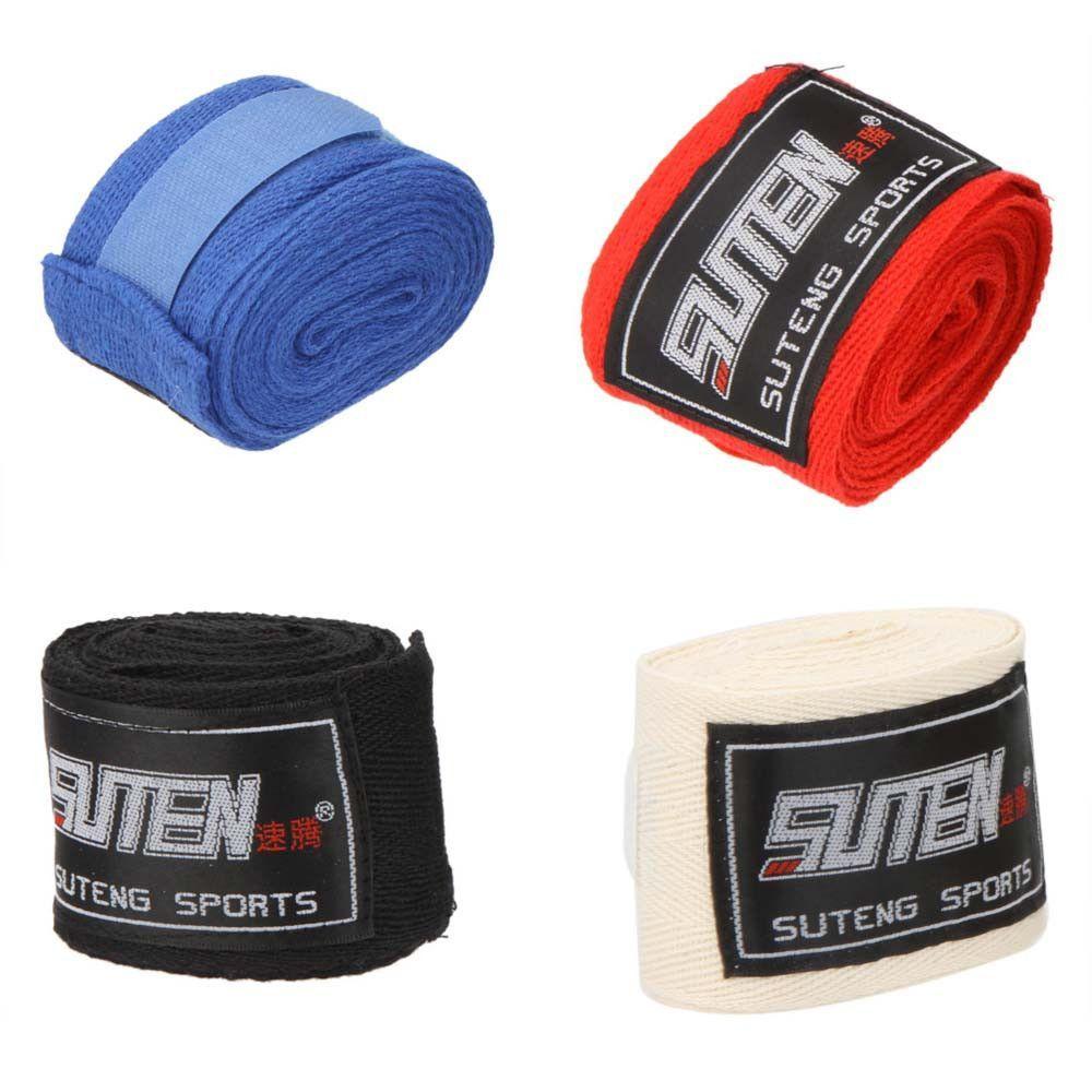 2pcs Box Sports Strap Boxing Bandage Muay MMA Taekwondo Hand Gloves Wraps New