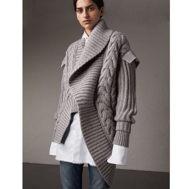 5673e2fb99855a ... An enveloping cardigan fashioned from cable and rib knit cashmere.  Inspired by the runway collection  Ravelry Hand-Knit Danbury Hooded Sweater  Jacket ...
