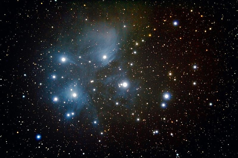 Messier 45 - The Pleiades Cluster   Star cluster