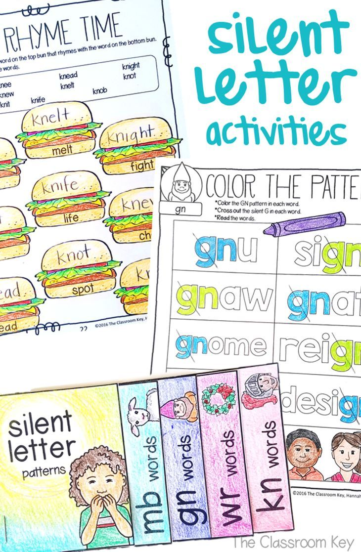Silent Letter Activities Worksheets Kn Wr Mb Gn 2nd Grade