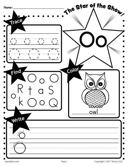 FREE Letter O Worksheet: Tracing, Coloring, Writing & More ...