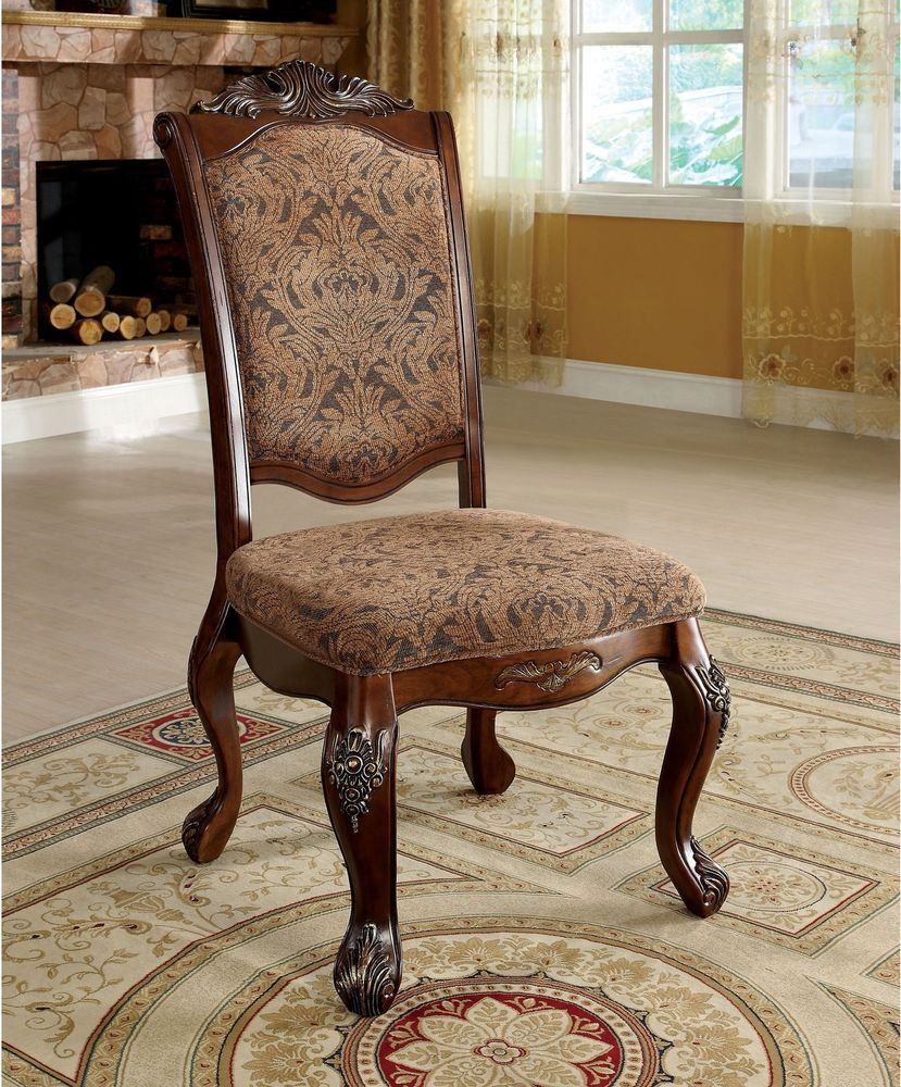 Side Dining Chair Antique Traditional Cherry Wood Elegant Seat 2