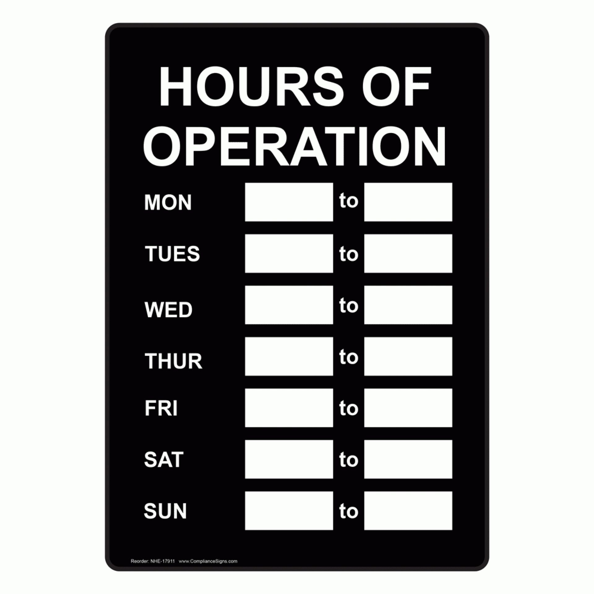 006 Hours Of Operation Template Ideas Excellent Sign Free Pertaining To Hours Of Operation Template Microsoft Word In 2021 Word Template Best Templates Sign Templates Business hours sign template free