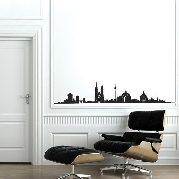 Wandsticker Skyline Nürnberg Wohnzimmer Wandaufkleber Wand