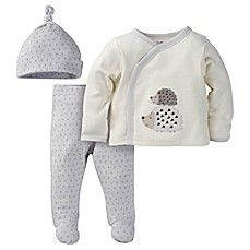 75d0a018f image of Gerber® Size 0-3M 3-Piece Organic Cotton Footed Take-Me-Home Set  in Ivory